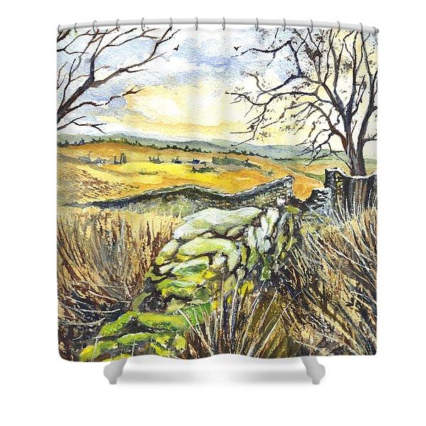 Gisburn Forest Lancashire Uk Shower Curtain by Carol Wisniewski