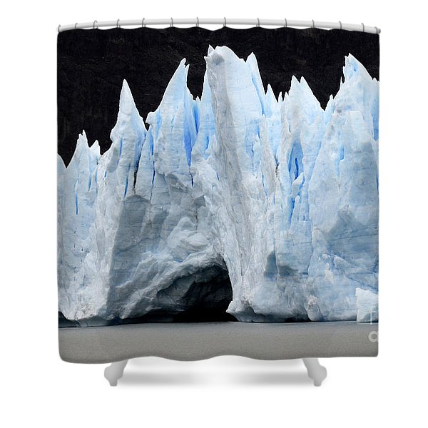 Glaciar Grey Patagonia Chile 3 Shower Curtain by Bob Christopher