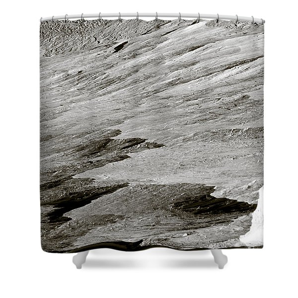 Glacier Shower Curtain by Frank Tschakert