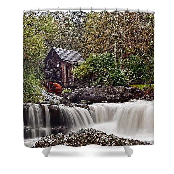 Glade Creek waterfall Shower Curtain by Marcia Colelli