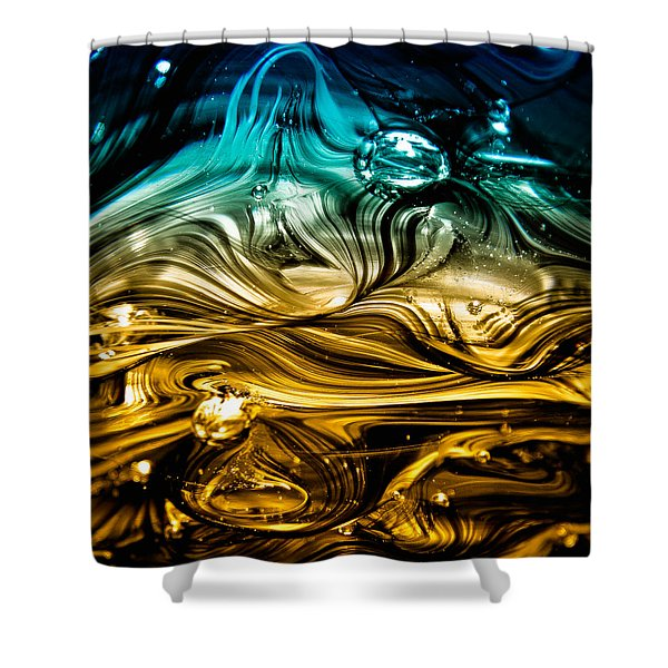 Glass Macro Abstract RBWCE Shower Curtain by David Patterson
