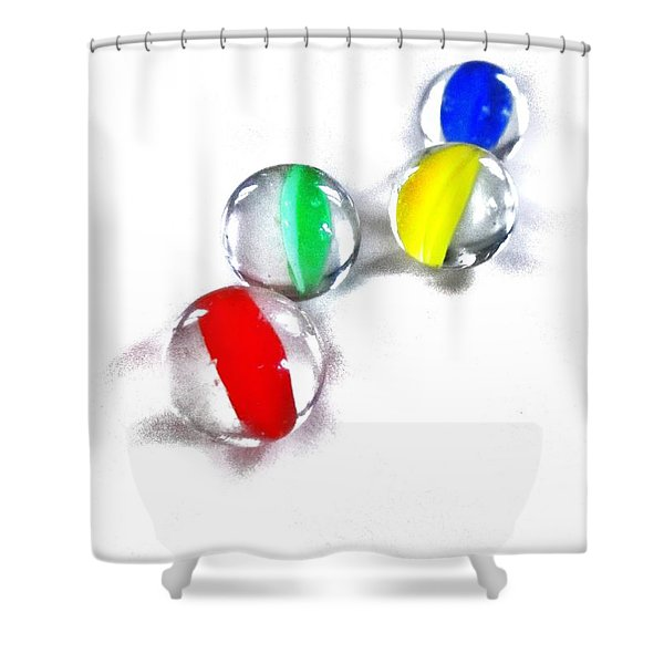 Glass Marbles Shower Curtain by Marianna Mills