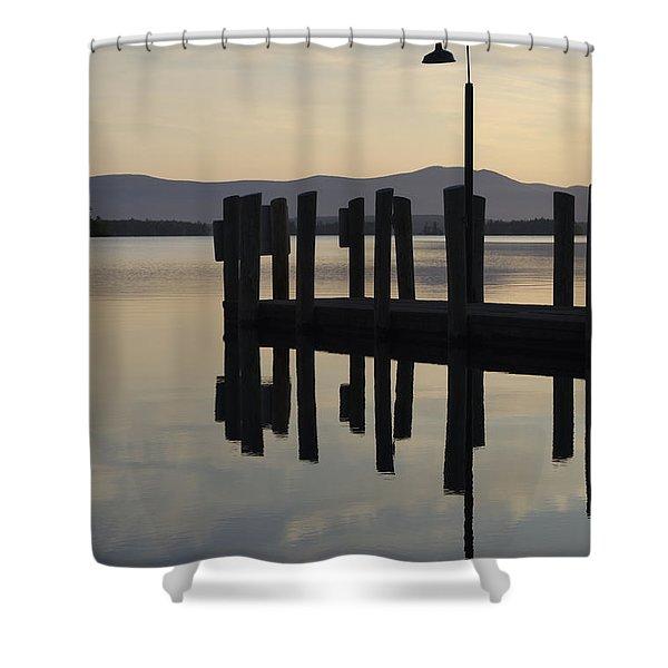 Glendale Docks No. 1 Shower Curtain by David Gordon