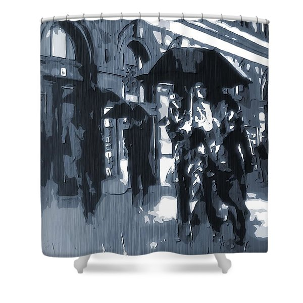 Gloomy Day In The City Shower Curtain by Dan Sproul
