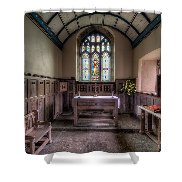 Glory of God Shower Curtain by Adrian Evans