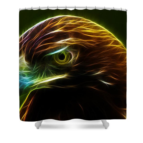 Glowing Gold Shower Curtain by Shane Bechler