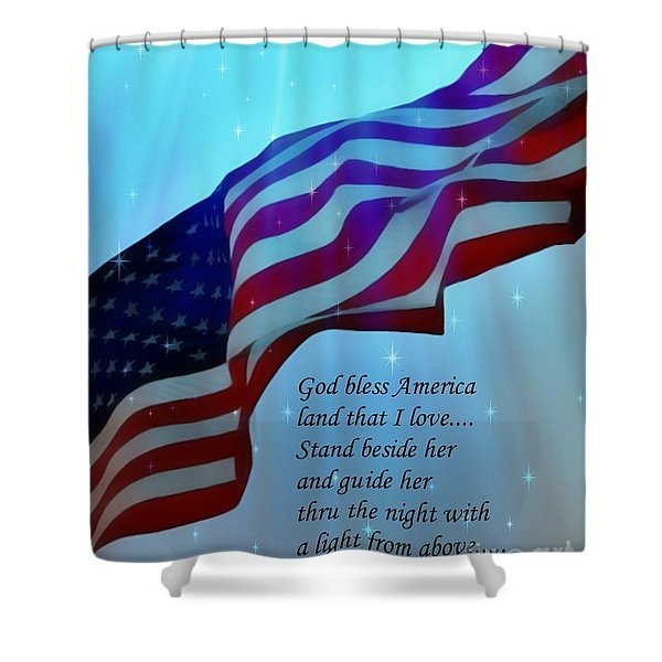 God Bless America Shower Curtain by Barbara Chichester