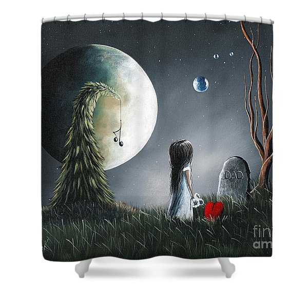 God Must Need You More Than We Do by Shawna Erback Shower Curtain by Shawna Erback