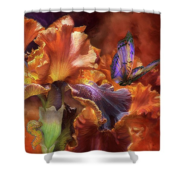 Goddess Of Miracles Shower Curtain by Carol Cavalaris