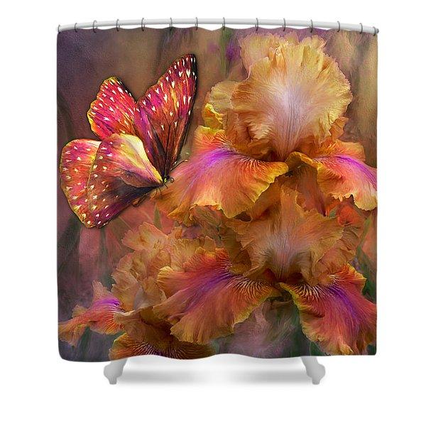Goddess Of Sunrise Shower Curtain by Carol Cavalaris
