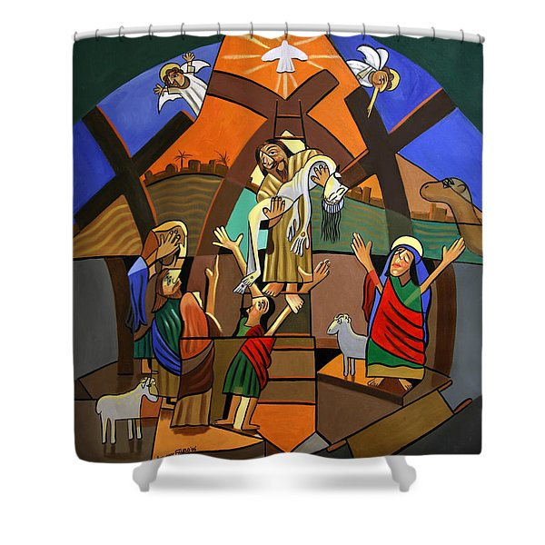 Gods Only Son Shower Curtain by Anthony Falbo
