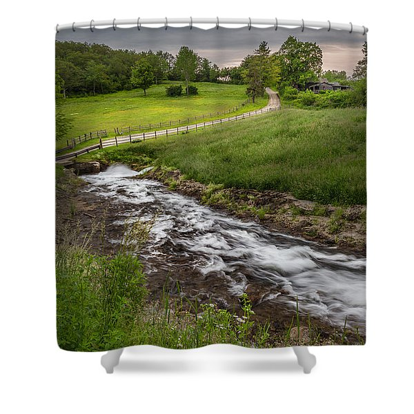 Goin With The Flow Shower Curtain by Bill  Wakeley