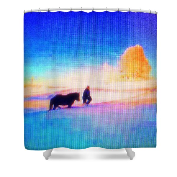 Going Home Shower Curtain by Hilde Widerberg