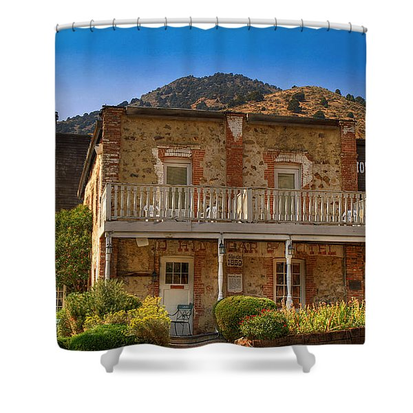 Gold Hill Hotel And Saloon Shower Curtain by Donna Kennedy