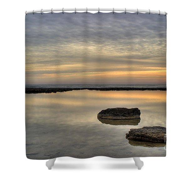 golden horizon Shower Curtain by Stylianos Kleanthous
