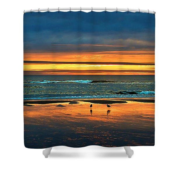 Golden Pacific Shower Curtain by Robert Bales