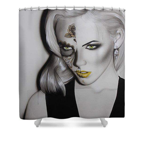 'Golden Soul' Shower Curtain by Christian Chapman Art