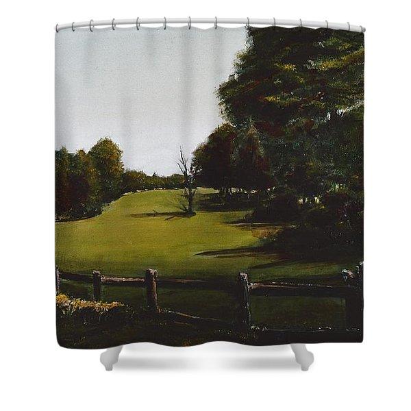 Golf Course In Duxbury Ma Shower Curtain by Diane Strain
