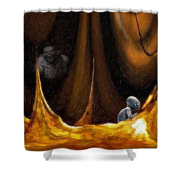 Gollum Shows the Way Shower Curtain by Steve Harrington