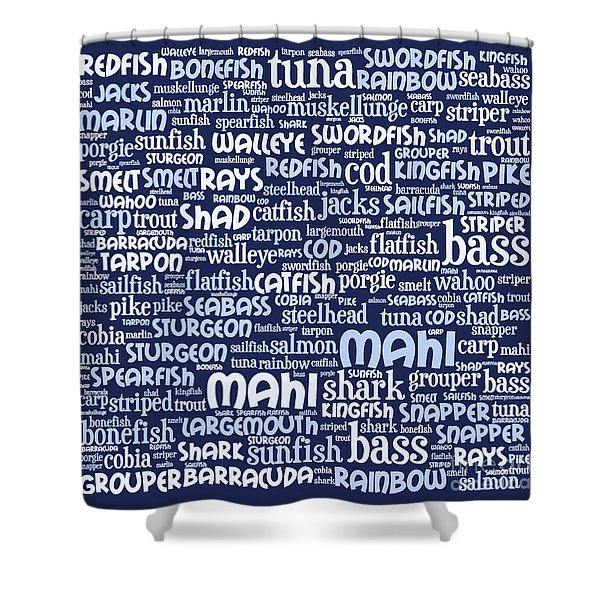 Gone Fishing 20130622bwco80 Shower Curtain by Wingsdomain Art and Photography