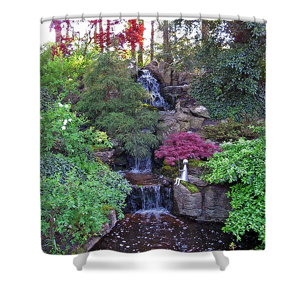 Gone Fishing. Keukenhof Gardens. Holland Shower Curtain by Ausra Paulauskaite