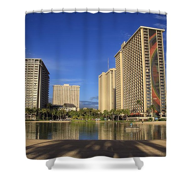 Good Morning Paradise Shower Curtain by DJ Florek