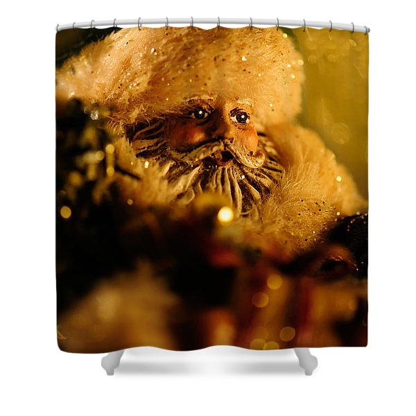 Good St. Nick Shower Curtain by Lois Bryan