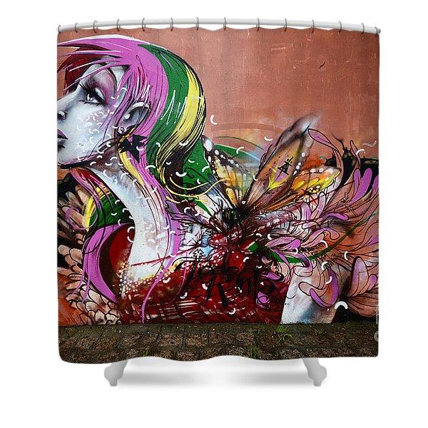 Graffiti Art Curitiba Brazil 15 Shower Curtain by Bob Christopher