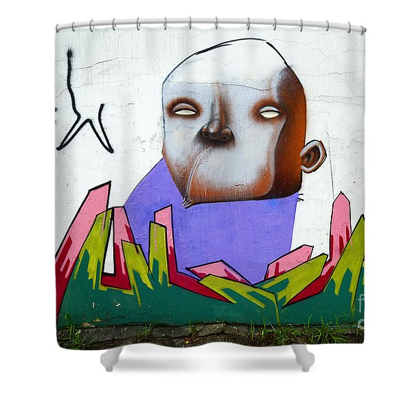 Graffiti Art Curitiba Brazil 17 Shower Curtain by Bob Christopher
