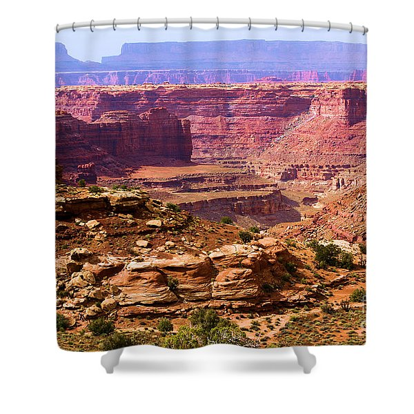 Grand Canyon Of Utah Shower Curtain by Adam Jewell