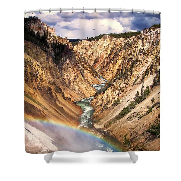 Grand Canyon of Yellowstone 1 Shower Curtain by Thomas Woolworth