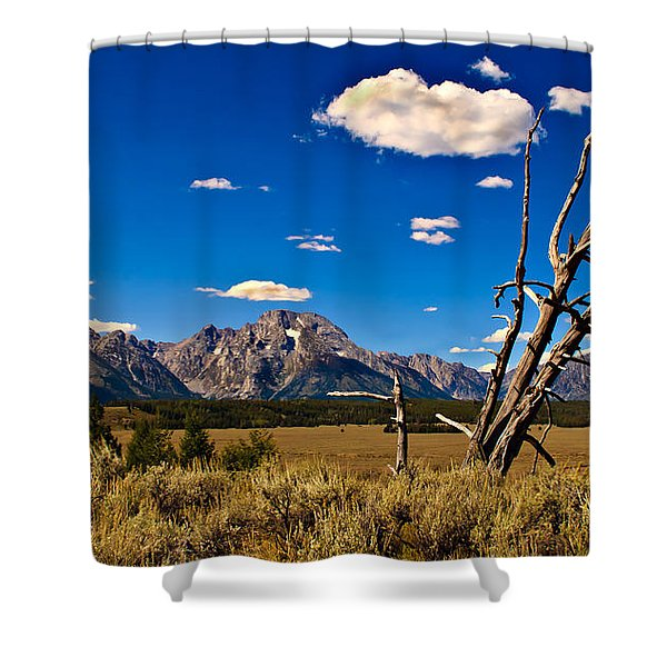 Grand Tenton Overlook Shower Curtain by Robert Bales
