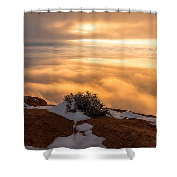Grand View Glow Shower Curtain by Chad Dutson
