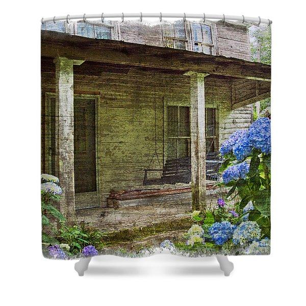 Grandma's Porch Shower Curtain by Debra and Dave Vanderlaan
