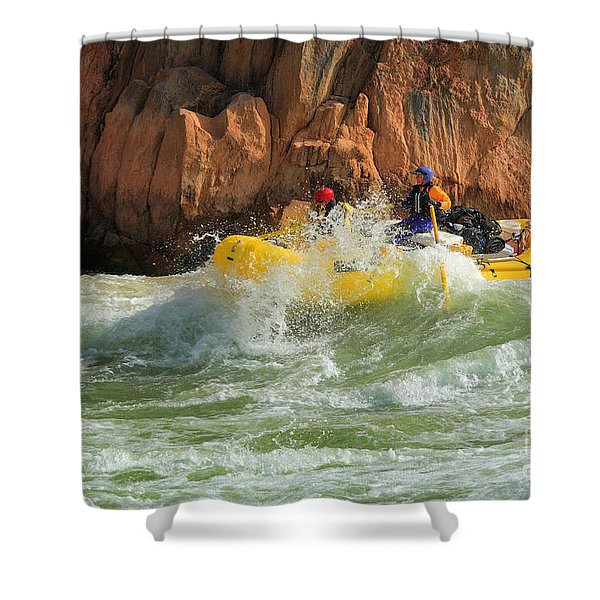 Granite Rapids Shower Curtain by Inge Johnsson