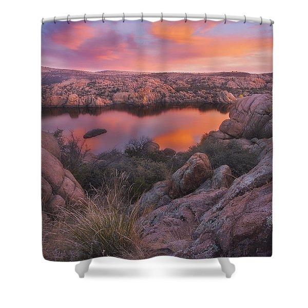 Granite Sorbet Shower Curtain by Peter Coskun