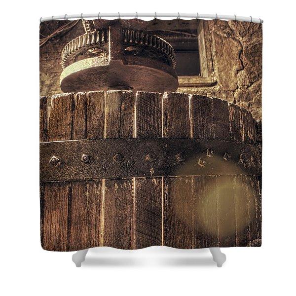 Grape Press at Wiederkehr Shower Curtain by Jason Politte