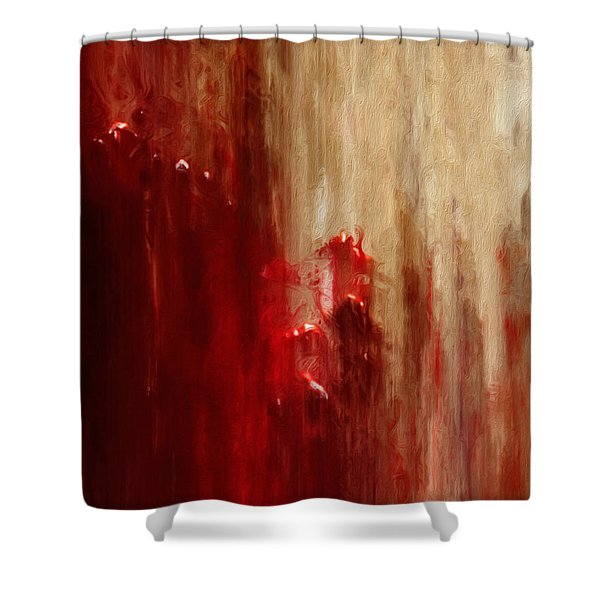 Grasping Shower Curtain by Jack Zulli