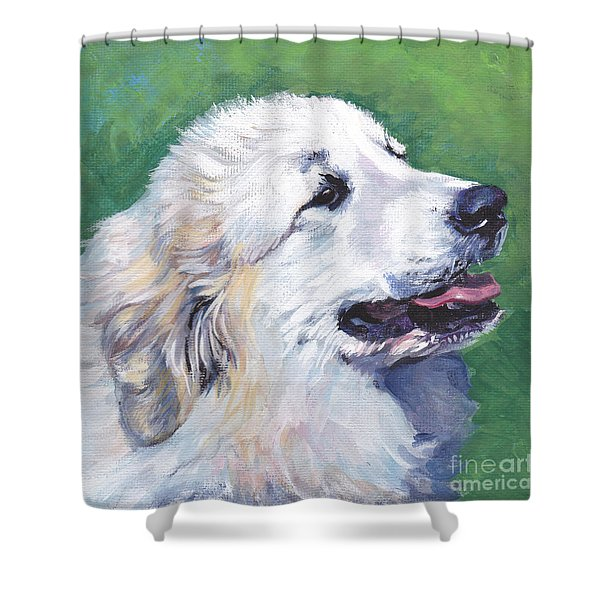Great Pyrenees Shower Curtain by Lee Ann Shepard