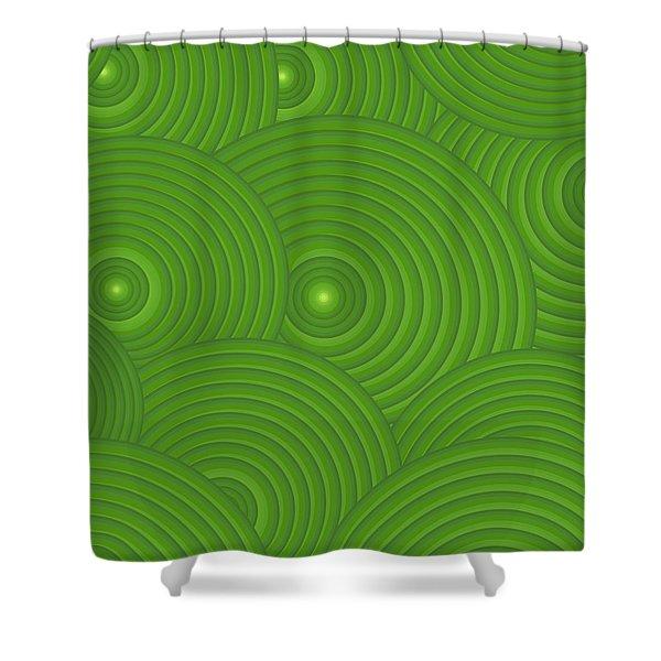 Green Abstract Shower Curtain by Frank Tschakert