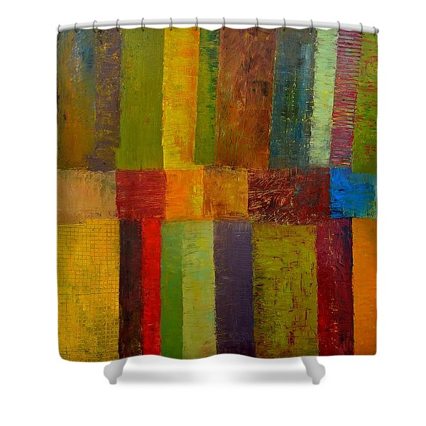 Green Eggs and Ham Shower Curtain by Michelle Calkins