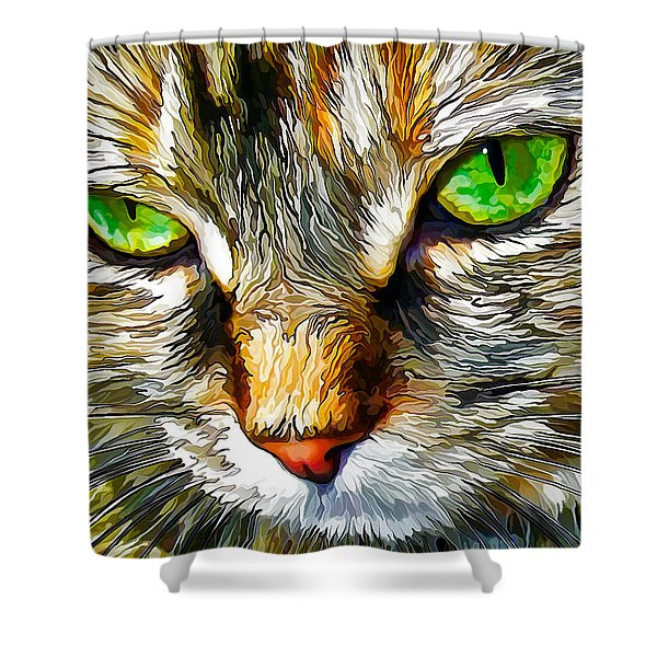Green-Eyed Monster Shower Curtain by Bill Caldwell -        ABeautifulSky Photography