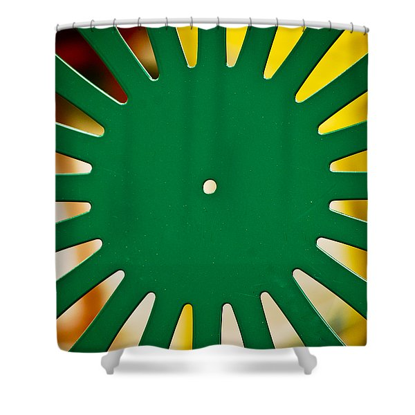 Green Memorial Union Chair Shower Curtain by Christi Kraft