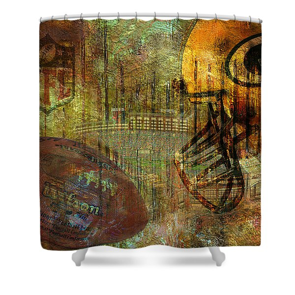 Greenbay Packers Shower Curtain by Jack Zulli