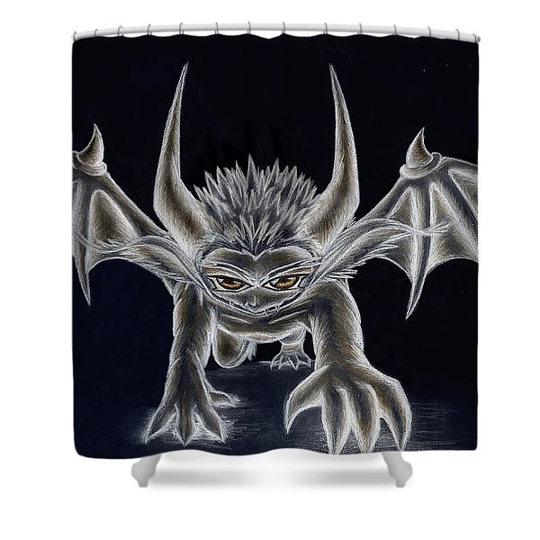 Grevil Inverted Shower Curtain by Shawn Dall