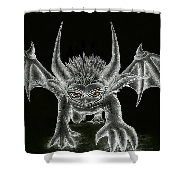 Grevil Statue Shower Curtain by Shawn Dall