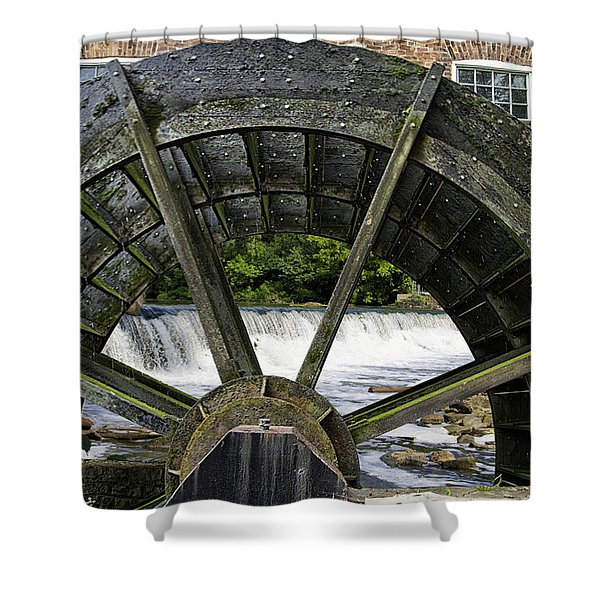 Grist Mill Wheel With Spillway Shower Curtain by Thomas Woolworth