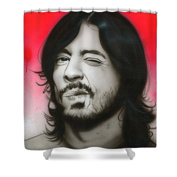 'Grohl III' Shower Curtain by Christian Chapman Art