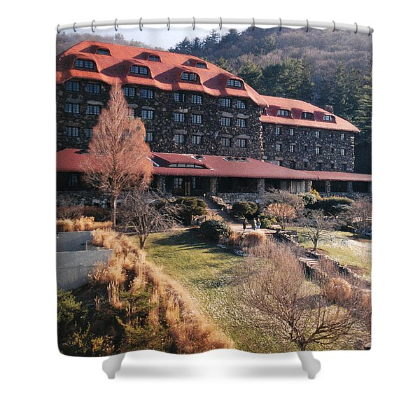 Grove Park Inn in Early Winter Shower Curtain by Paulette B Wright