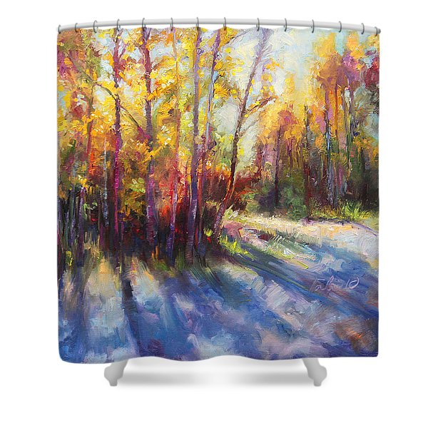 Growth Shower Curtain by Talya Johnson